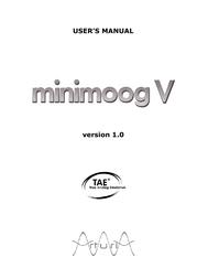 Arturia minimoog v User Manual