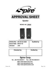 Spire Symphony 363 SP363 User Manual