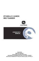 John Deere ET-3303-J User Manual