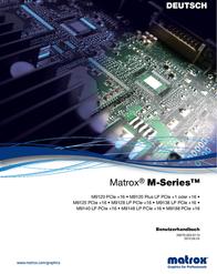 Matrox M9120-E512F Data Sheet