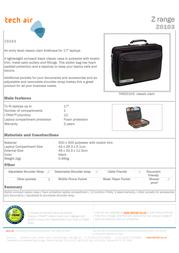 Tech air Briefcase Z0103 Z0103 Leaflet