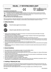 Velleman vdl4dl VDL4DL User Manual