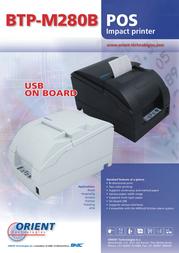 Orient Technologies BTP-M280B BTP-M280B SER/USB Leaflet