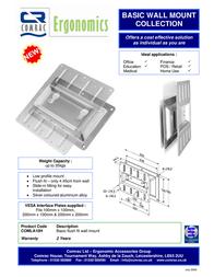 Comrac Basic Flush Fit Wall Mount COMLA10H Leaflet