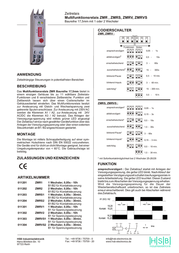 Hsb Industrieelektronik 011301 Time Delay Relay, Timer, SPDT-CO 24/230 Vac 011301 User Manual