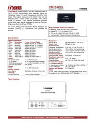 TV One 1T-V1280DVI Leaflet