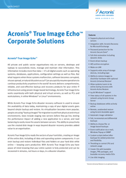 Avanquest Acronis True Image Echo Workstation ATICWECFRP1 Data Sheet