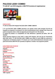 TELE System PALCO22 LED01 COMBO 28003015 Leaflet