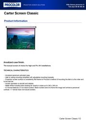 Procolor Carter Screen Classic 096348 Leaflet