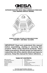 Desa PV15EA User Manual