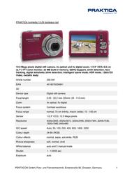 Praktica Luxmedia 12-Z4 256841 Leaflet