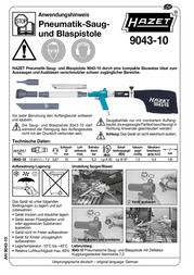 Hazet 9043-10 Data Sheet