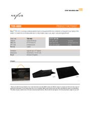 Nexus TDD-9000 Patented Liquid Laptop Cooler TDD-9000 Leaflet