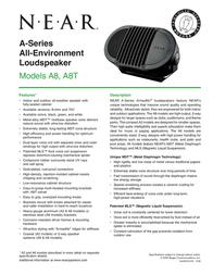 Bogen A8T A8TGRN User Manual