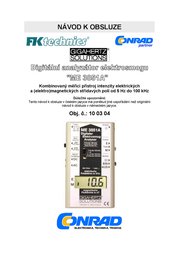 Gigahertz Solutions ME3851A Low frequency (NF)-Analyser, Electric smog meter, 5 Hz - 100 kHz, 2dB (in accordance with t ME3851A Data Sheet