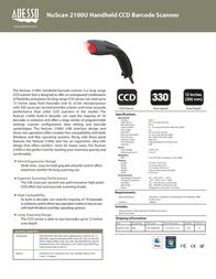 Adesso NuScan 2100U NUSCAN2100U Leaflet
