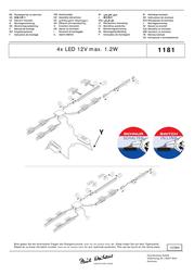 Paul Neuhaus Decorative Lighting 1181-00 White Built-in LED 1181-00 Data Sheet