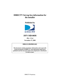 DirecTV DTV-MD0-0058 User Manual