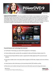 Cyberlink PowerDVD 9, OEM CYBERLINK 9 User Manual