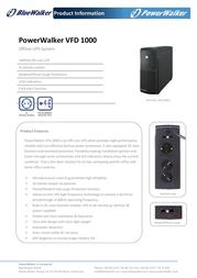 BlueWalker Powerwalker VFD 1000 310030 Leaflet