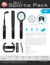 CTA Digital The Grand Slam 6 in 1 Sports Pack for Wii WI-6KB Leaflet