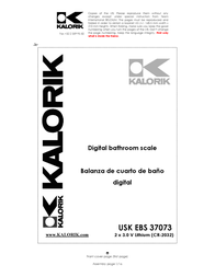 KALORIK USK EBS 37073 User Manual