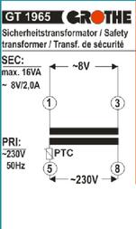 Grothe Bell transformer N/A 14102 Data Sheet