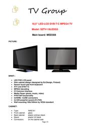 Saga SZTV-19LEDG5 User Manual