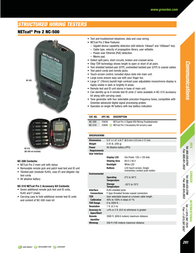 Greenlee NC-500 Specification Guide