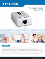 TP-LINK PoE Injector TL-POE150S Data Sheet