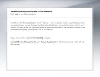 Nissan 2008 NAVIGATION SYSTEM User Manual