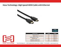 Hosa Technology 10ft, HDMI - HDMI HDMA-410 Leaflet