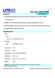 Lite-On DVD-ROM 16xDVD ATAPI int Bulk black 10PK SOHD-167T-31C?10PK Leaflet