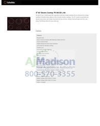 Scholtes TR365TDLNA Specification Sheet