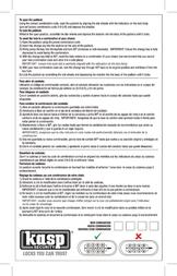 Kasp Padlock K11750D Silver Combination K11750D Leaflet