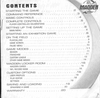games-sony-ps--psx madden nfl 2001 Manuale Utente