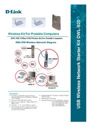 D-Link Starter Kit 1xAP 2xUSB Wless DWL-920 Leaflet