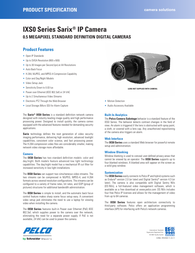 Pelco IXS0C Specification Guide