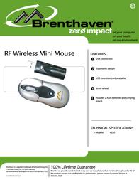 Brenthaven RF Wireless Mini Mouse 4250 Leaflet