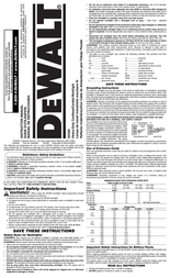 DeWALT DC020 Instruction Manual