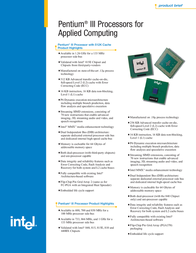 Lenovo Pentium III 25P2836 Leaflet