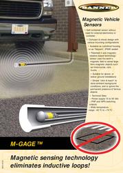 Banner Magnetic Vehicle Sensor M-GAGE Leaflet
