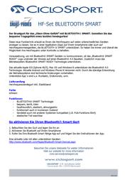 Ciclosport Textile Chest Strap with Bluetooth Smart 11203695 Data Sheet