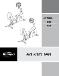 Tempo 910B 920B User Manual
