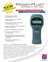 Psiber Data PNG65- Network IP tester for 10/100/1000 Mbit, cable-testing device, cable tester 226004 Data Sheet
