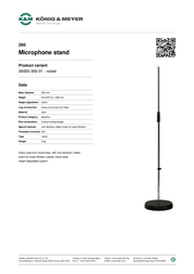 König & Meyer 260 26000-300-01 Leaflet