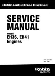 Subaru Automobile Parts EH36 User Manual