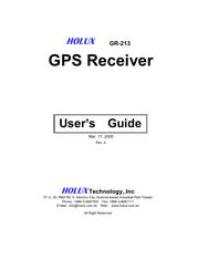 Holux gr-213 User Guide