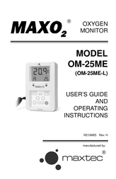 MAXTECH MAXO2 OM-25ME User Manual
