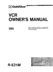 Goldstar R-E21M User Manual